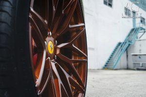 ferrari f12 berlinetta forged wheels matte brushed bronze rim rims 21 22 22x9.5 22x12.5 agl40 duo dual block