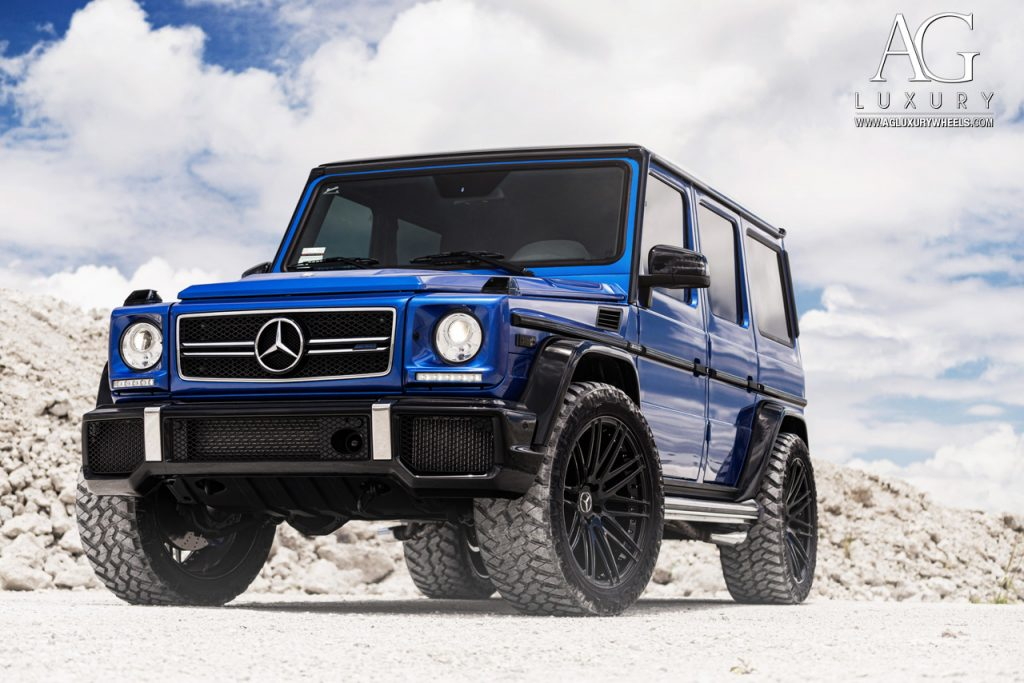 mercedes benz g63 amg custom forged wheels duo block agl10 gloss black