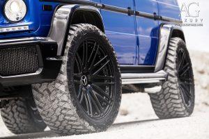 mercedes benz g63 amg custom forged wheels duo block agl10 gloss black