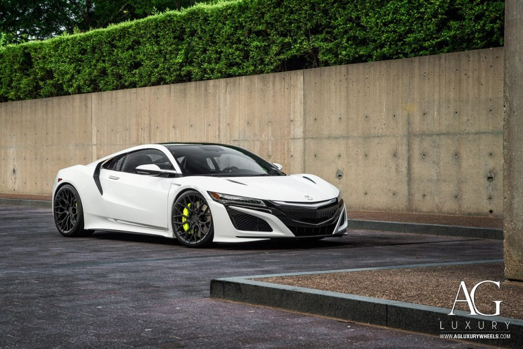 acura nsx agluxury wheels rims 21in 21inch 20inch 20in agl43 custom forged monoblock concave mesh matte black dallas texas rims