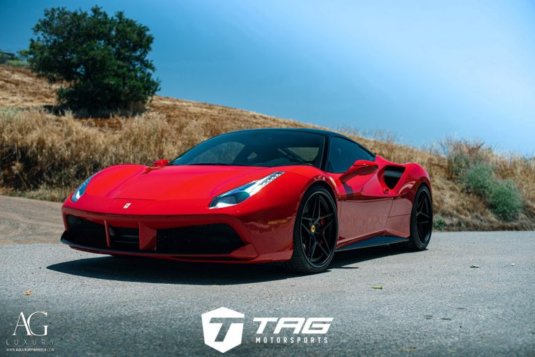 Ferrari 488 GTB on AGLuxury AGL42 Forged 3-Piece Wheels