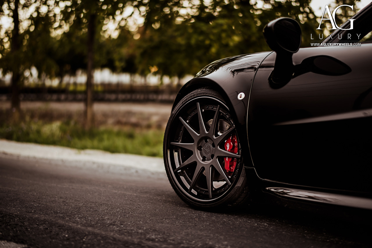 Ag Luxury Wheels Alfa Romeo 4c Forged Rims Black Staggered Concave