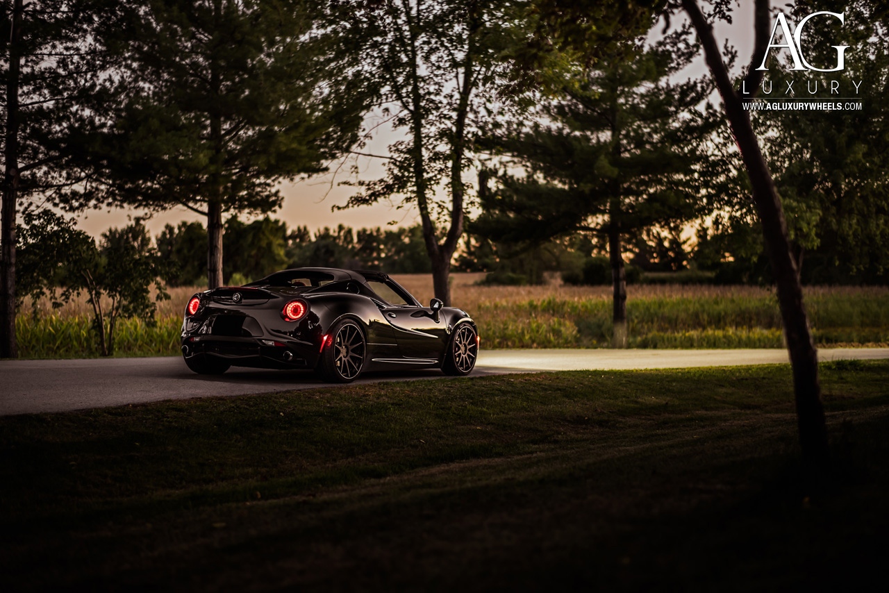black alfa romeo 4c forged wheels staggered concave