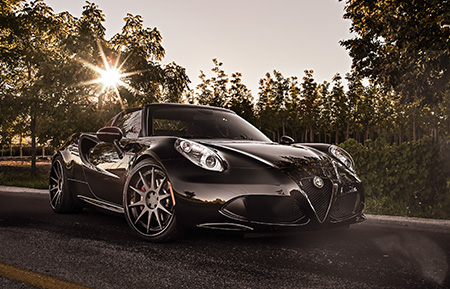 alfa romeo 4c forged wheels staggered concave