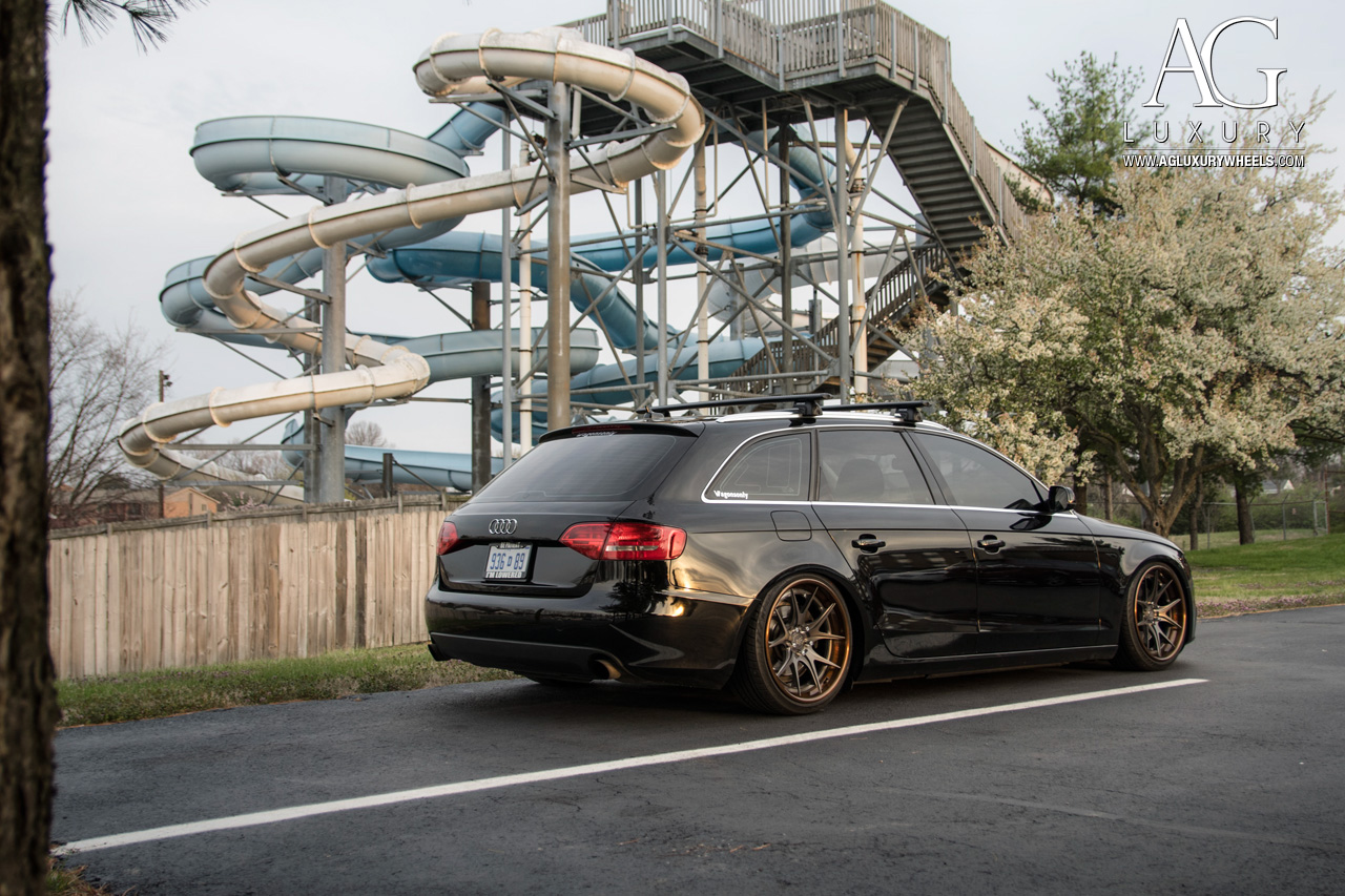 black audi a4 avant concave forged wheels wagon
