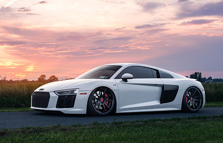 audi r8 forged concave gloss black wheels
