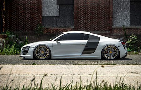 audi r8 forged concave staggered wheels air suspension