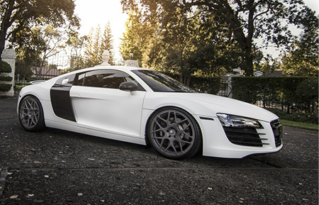 audi r8 monoblock concave staggered wheels