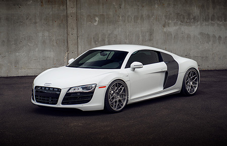 audi r8 concave staggered forged wheels