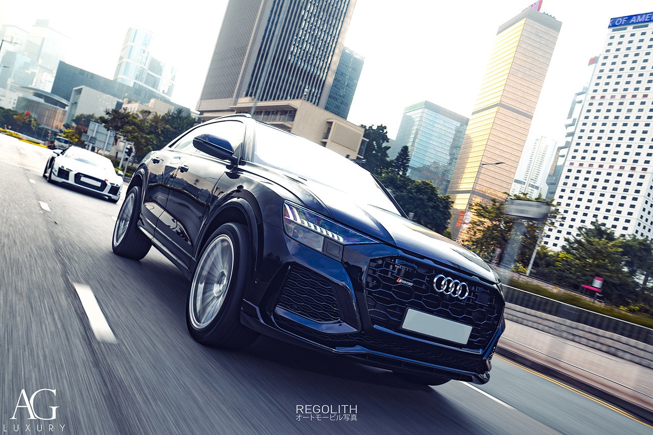 audi rsq8 sq8 q8 agluxury wheels agl63 monoblock brushed face polished forged custom concave forgiato 22in 22inch vellano vossen