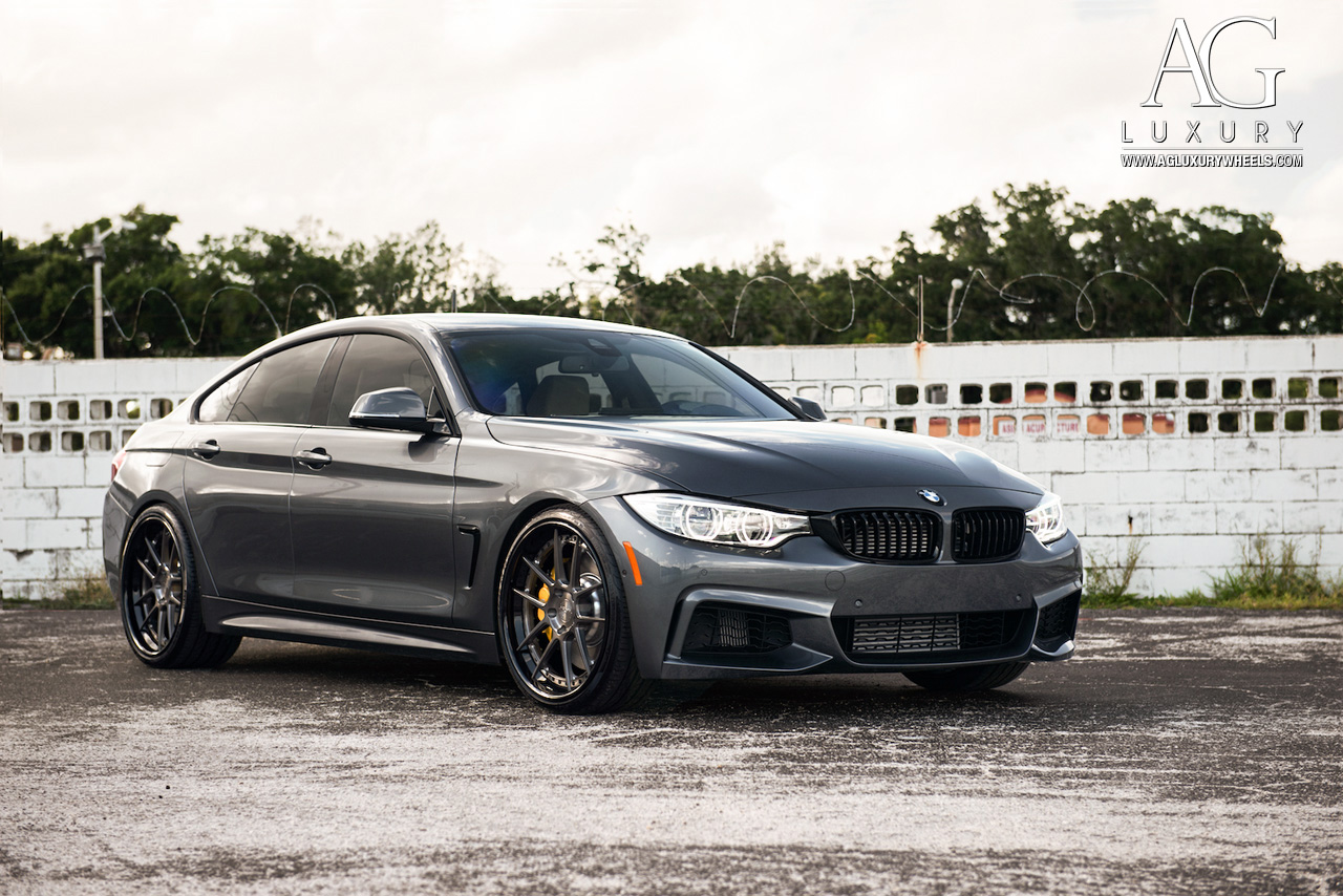 gray bmw 435i gran coupe forged concave wheels f32 f30 staggered