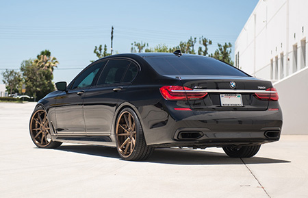 bmw 750i forged staggered 22 inch bronze concave wheels