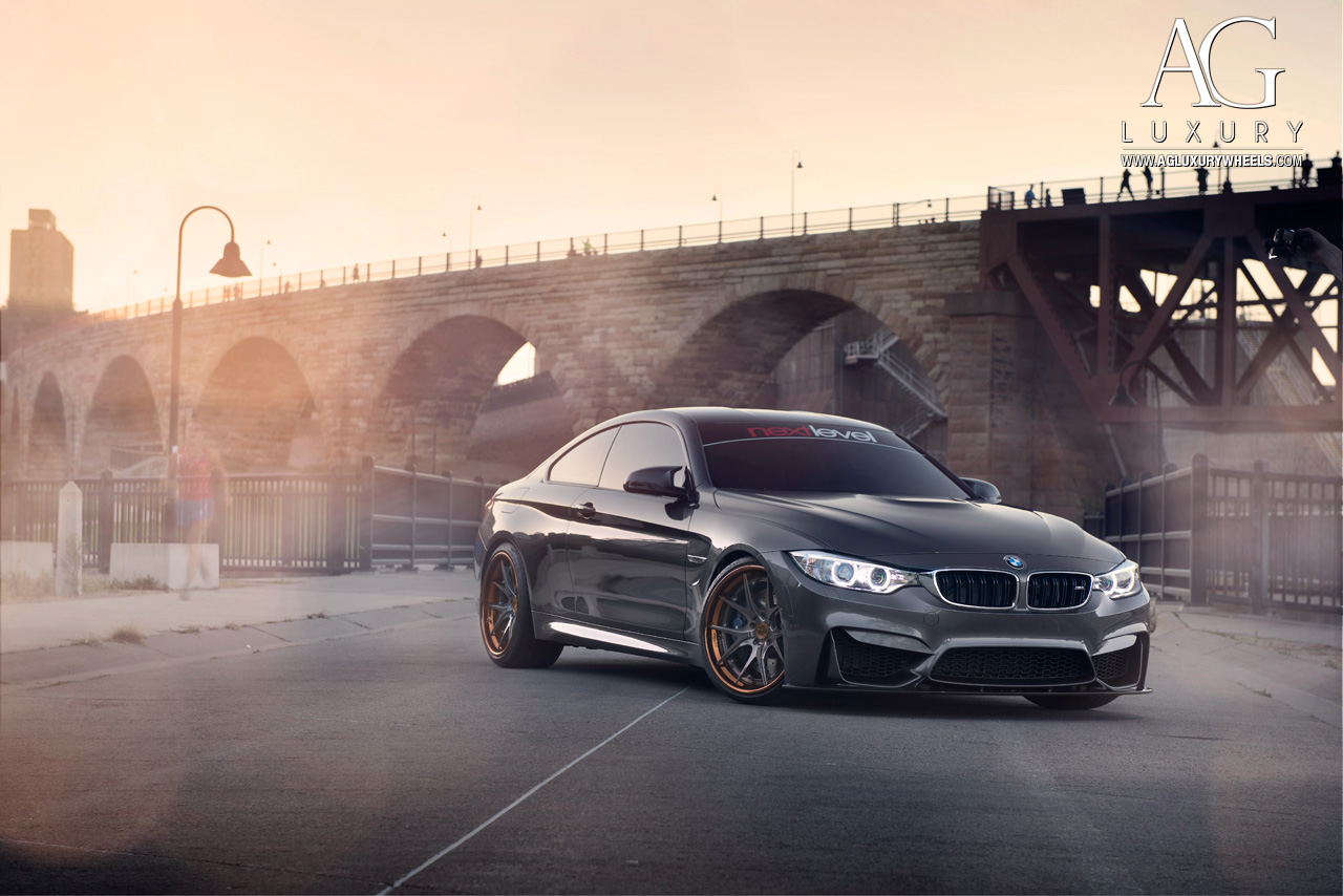 gray bmw f82 m4 concave forged staggered wheels step lip brushed gunmetal
