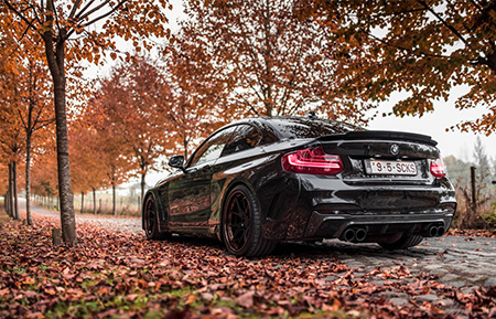 bmw m235i forged wheels concave staggered wide body