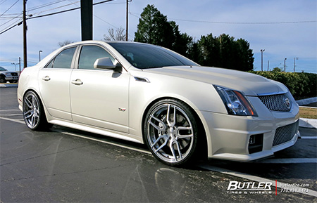 cadillac cts v forged concave staggered wheels