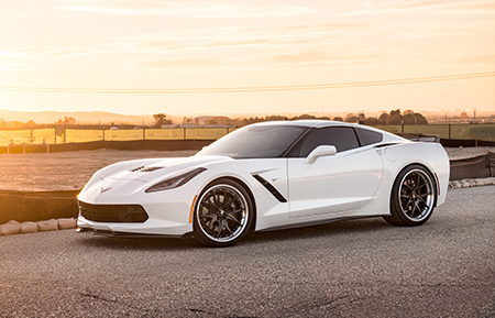 chevrolet c7 corvette forged wheels concave staggered