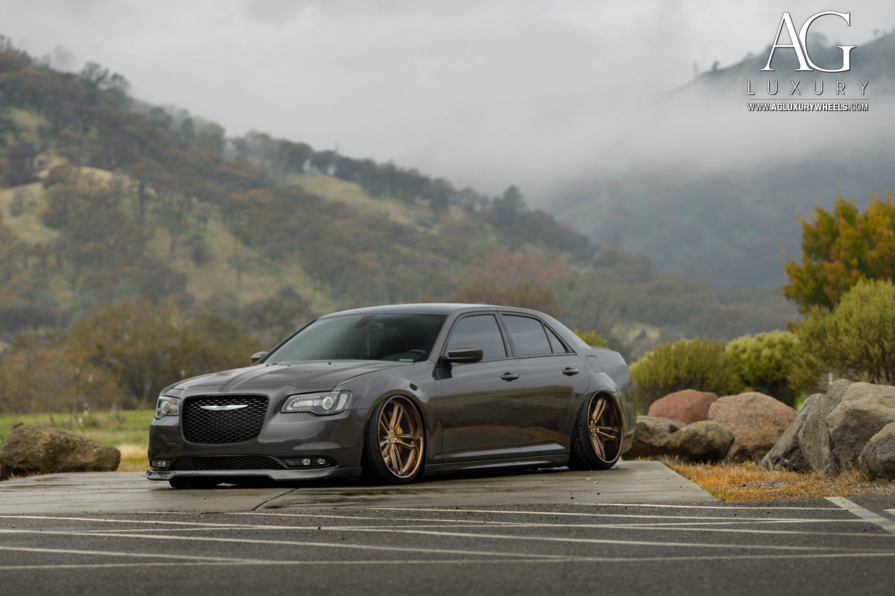 gray chrysler 300 s forged concave staggered wheels air suspension