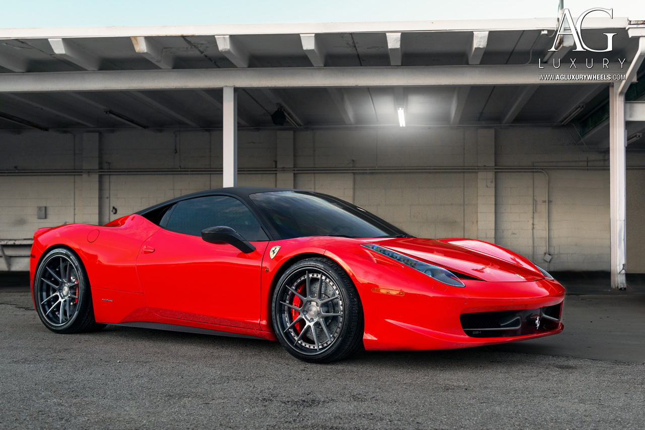 ag luxury wheels ferrari 458 italia forged wheels. Black Bedroom Furniture Sets. Home Design Ideas
