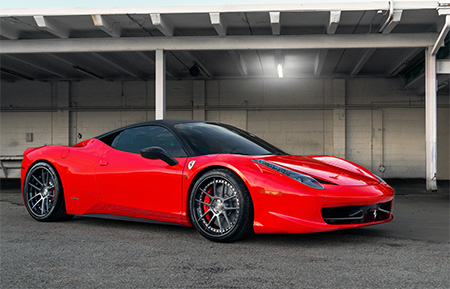 ferrari 458 italia forged concave staggered wheels