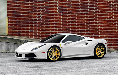 ferrari 488 gtb forged wheels concave staggered