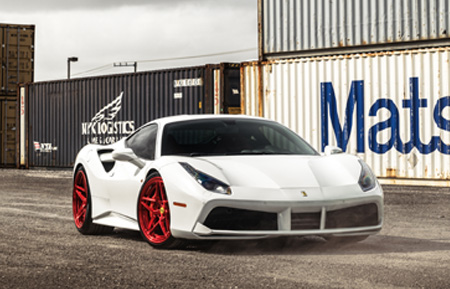 ferrari f88 gtb white mccustoms miami williamstern agwheels agluxury luxury wheels wheel rim rims exotic brushed candy apple red agl42 spec3