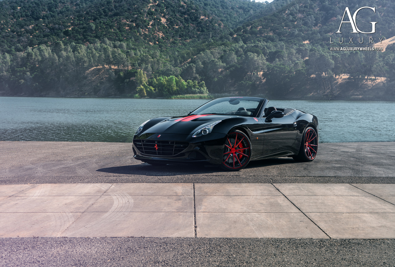 black ferrari california forged concave staggered wheels two tone duo block