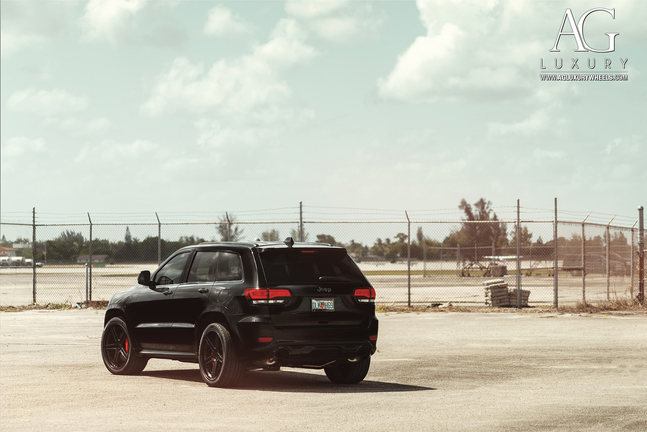black jeep grand cherokee srt forged concave staggered black wheels
