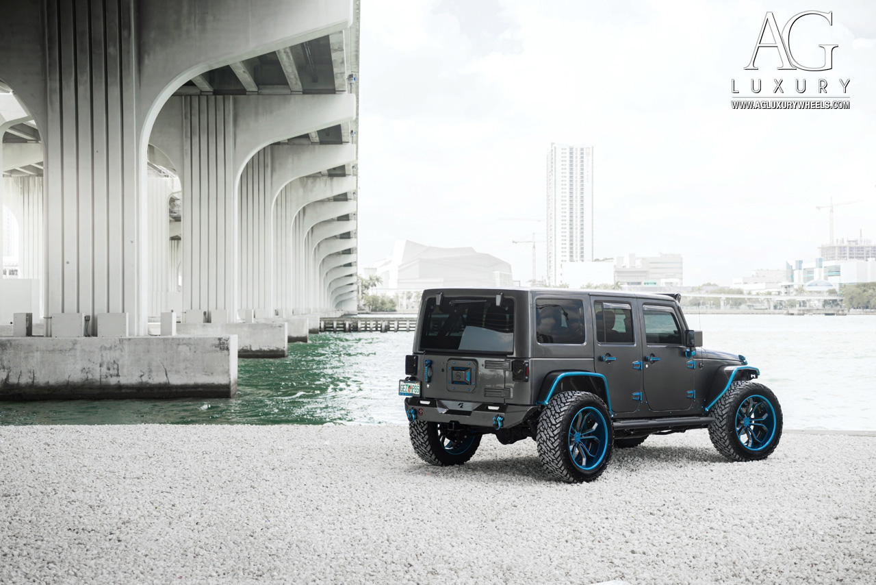 matte black jeep wrangler forged concave wheels two tone