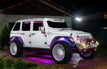 jeep wrangler forged concave white pink wheels