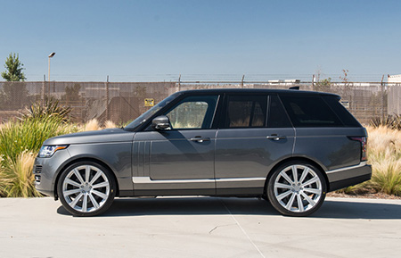 range rover monoblock forged concave silver wheels
