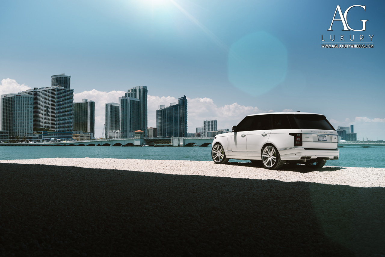 white range rover 24 inch forged monoblock concave two tone wheels