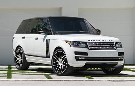 range rover forged concave monoblock two tone wheels