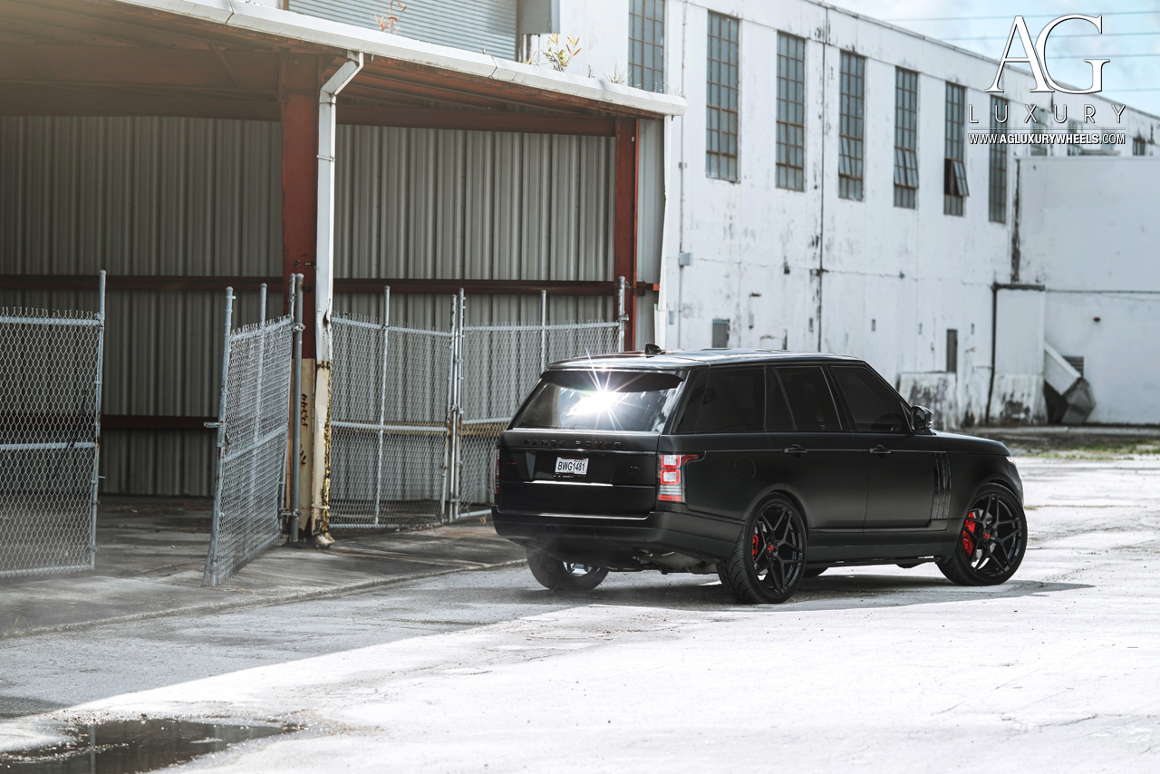 matte black range rover 24 inch forged monoblock concave black wheels