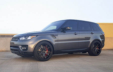 land rover range rover sport custom forged wheels agl19 brushed gunmetal grigio