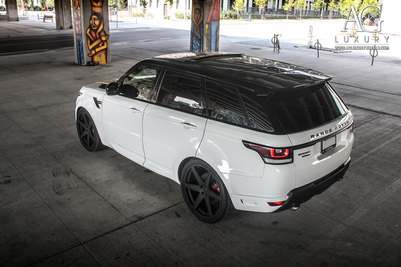 white range rover sport 24 inch forged monoblock concave black wheels