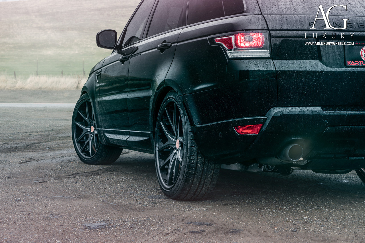 black range rover sport 24 inch forged concave black wheels split five spoke