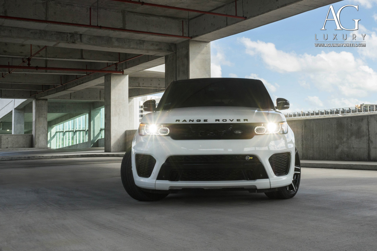 white range rover sport svr 22 inch forged concave monoblock two tone wheels six spoke