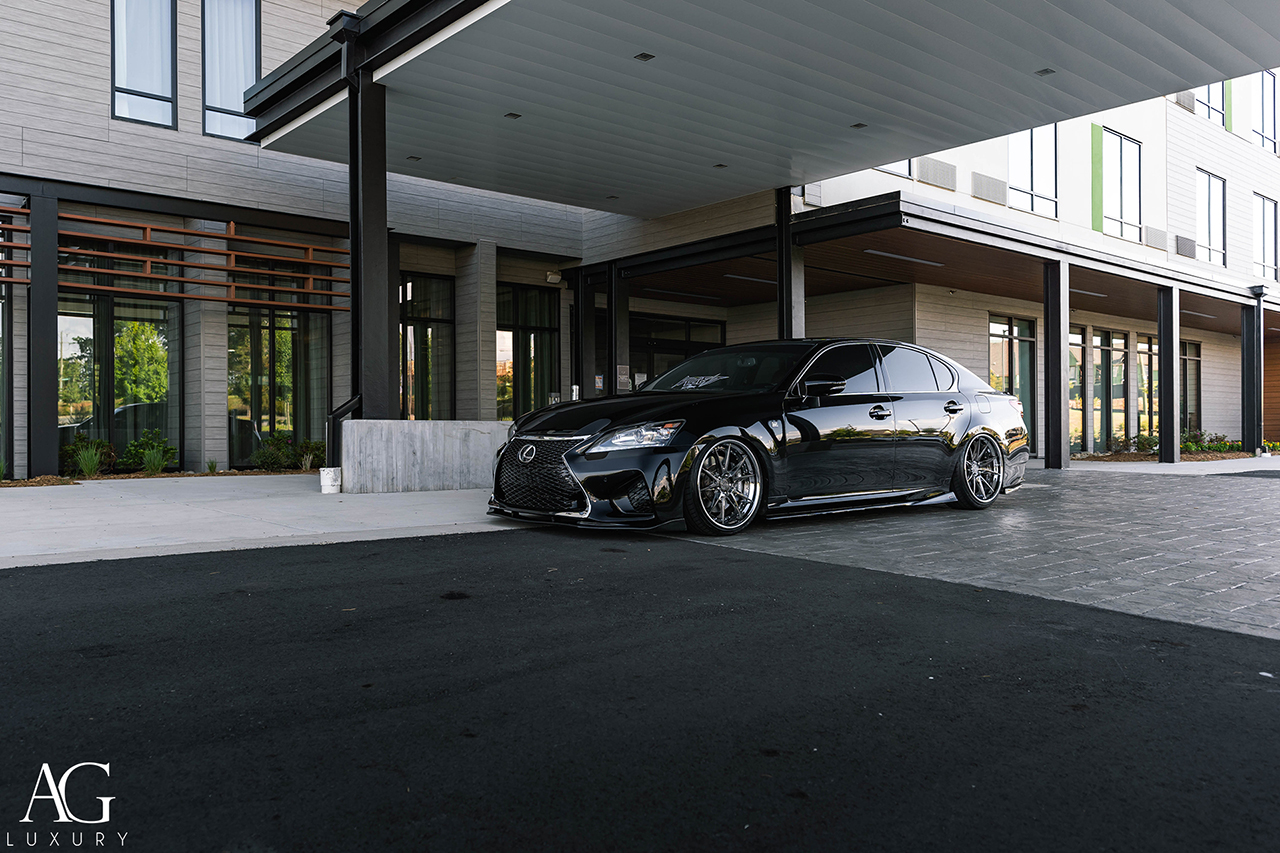 lexus gs350 gs250 gs300 gs450 fsport grl10 grl11 brushed black chrome avant garde agwheels wheel rims rim tire tires wheels agluxury luxury coupe spec3 agl59
