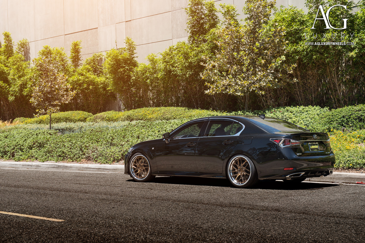 black lexus gs fsport forged directional staggered concave bronze wheels gs350 gsf
