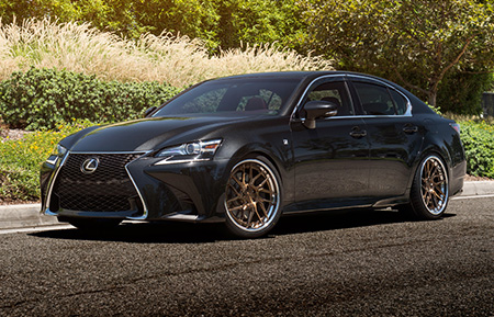lexus gs350 forged concave brushed wheels