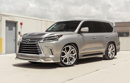 lexus lx570 forged concave brushed wheels