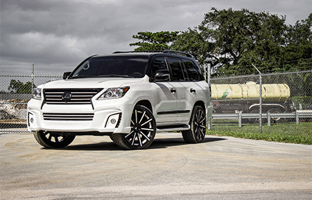 lexus lx570 wald forged concave wheels