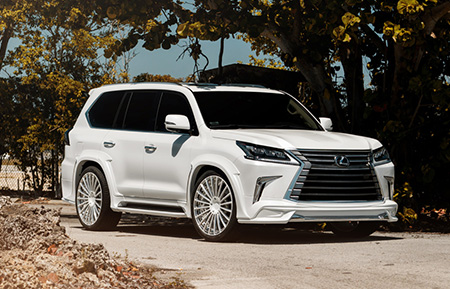 lexus lx570 wald wide body concave forged wheels