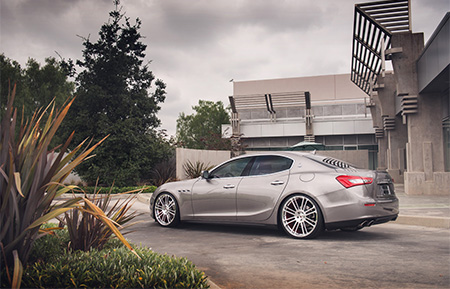 maserati ghibli forged concave staggered wheels