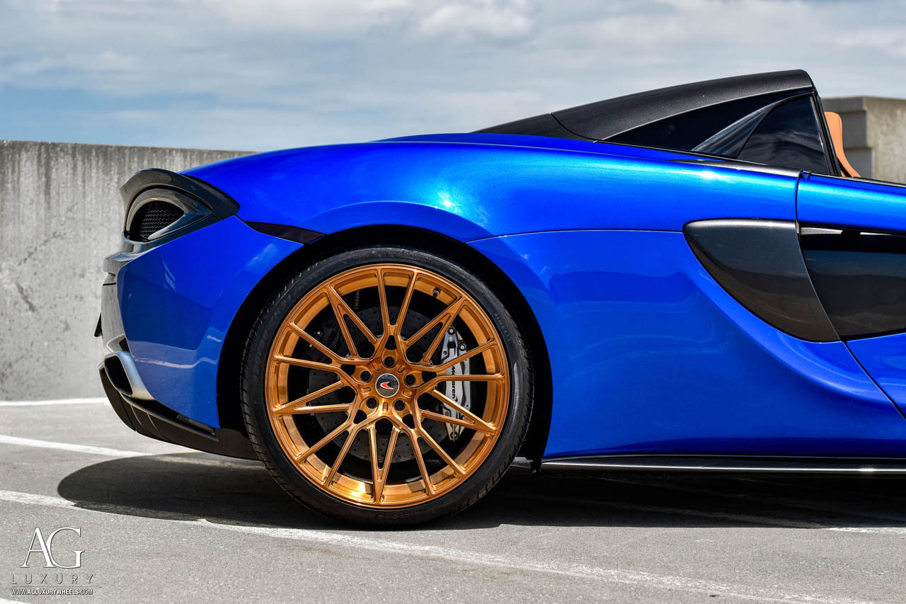 agluxury wheels agl58 monoblock brushed monaco copper custom concave forged one piece bespoke rims mclaren 570s kctrends motorsports supercar rotiform vossen hre anrky forgiato mesh