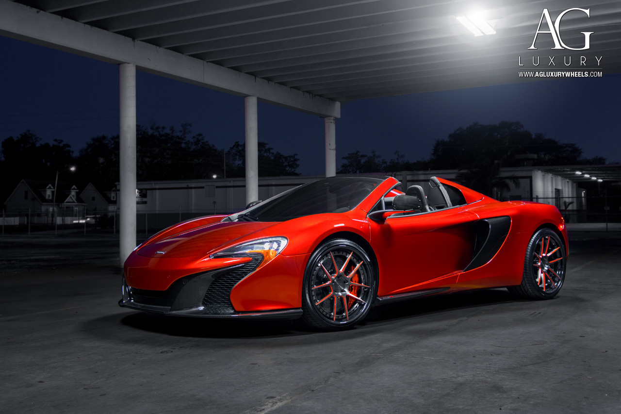 red mclaren 650s forged concave staggered wheels two tone