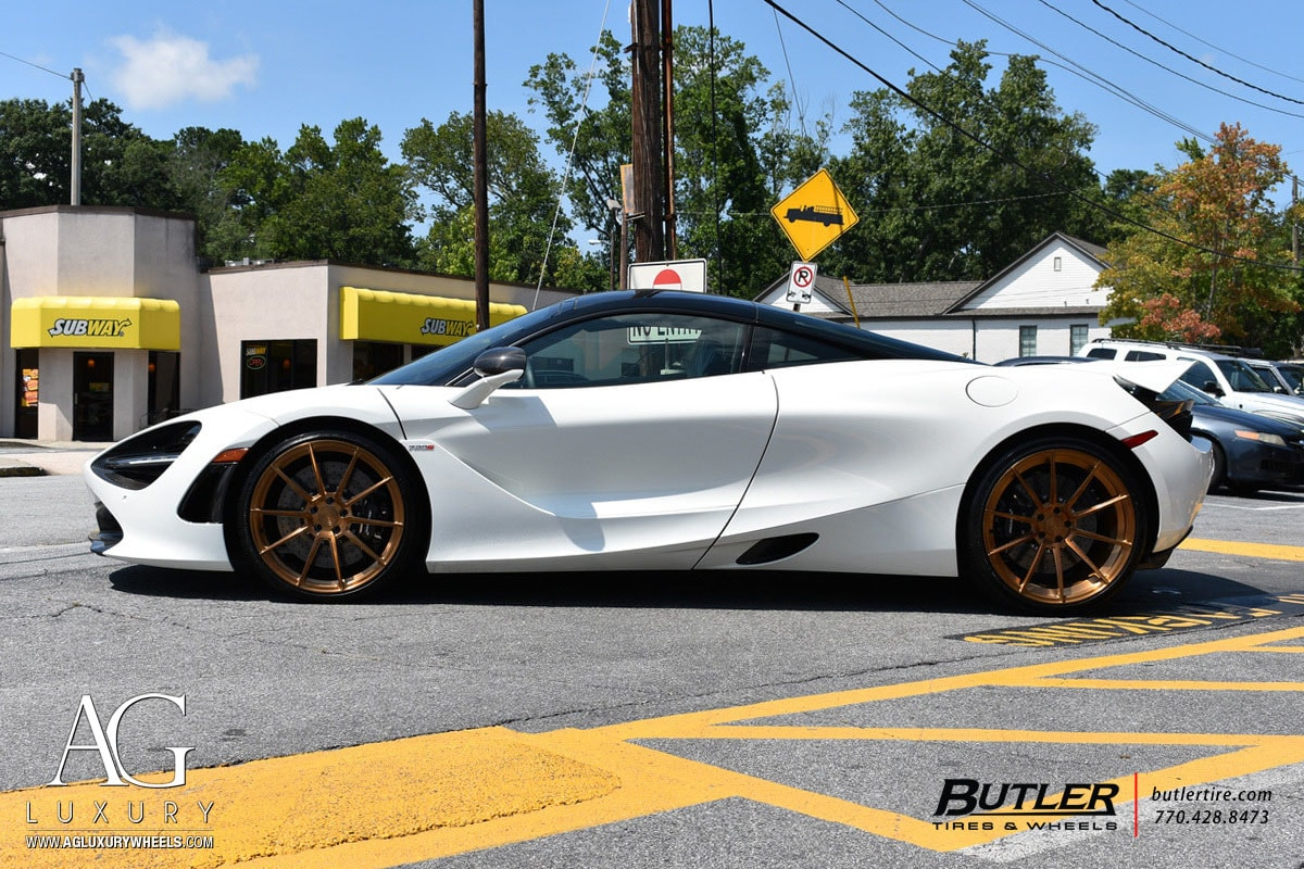 agluxury wheels ag luxury agwheels avant garde agl31 monoblock mclaren 720s 650s 675lt brushed monaco custom concave rims tires 20s 20inch 20 21 21s 21inch staggered butler tire atlanta
