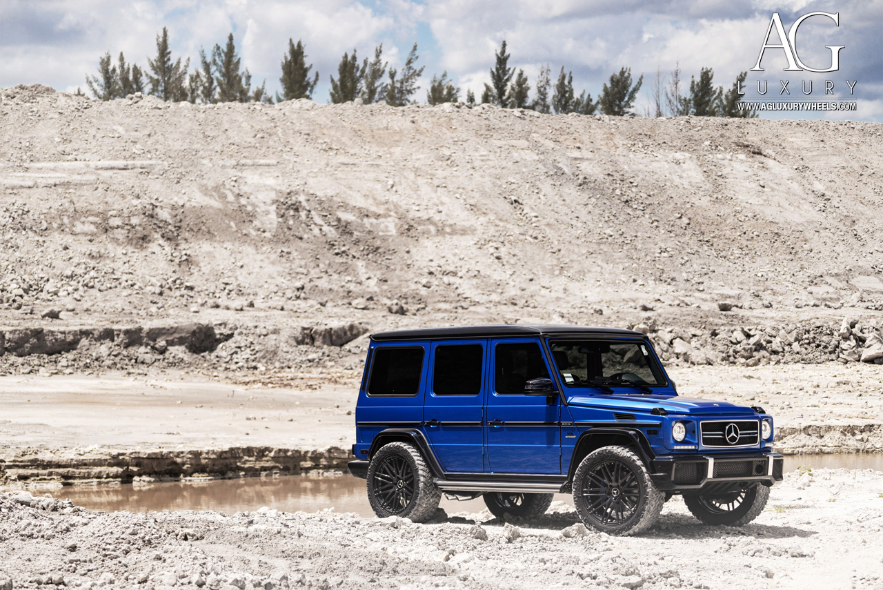 blue purple mercedes benz g63 amg forged concave black wheels duo block g wagon