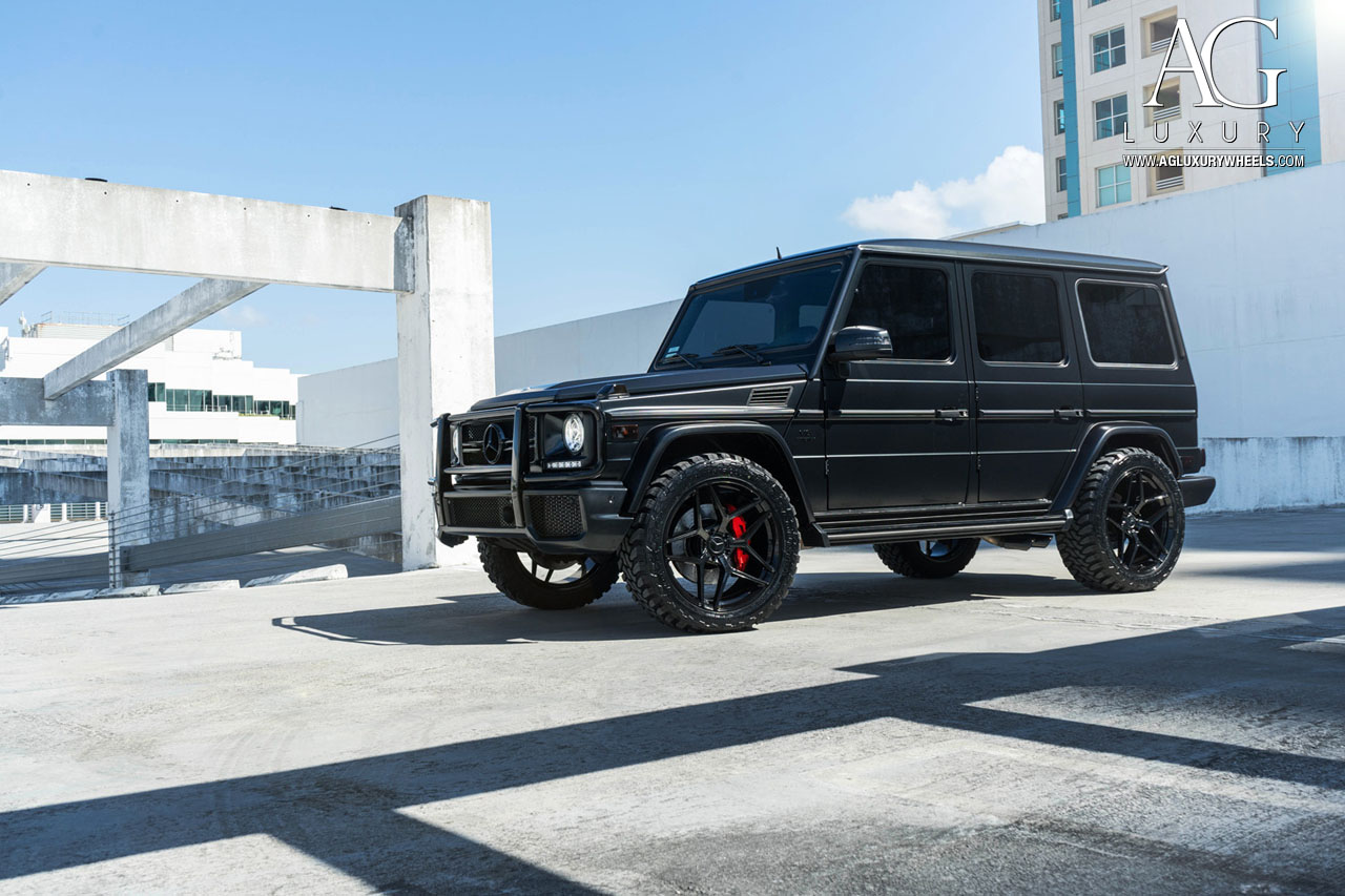 matte black mercedes benz g63 amg forged concave black wheels g wagon