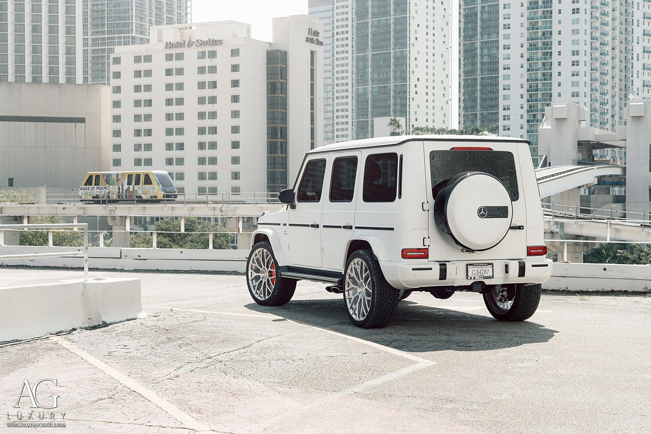 agluxury wheels agl57 monoblock brushed polished custom concave forged monoblock two tone brabus mercedes benz g63 amg 2019 gwagen miami mccustoms vossen anrky forgiato